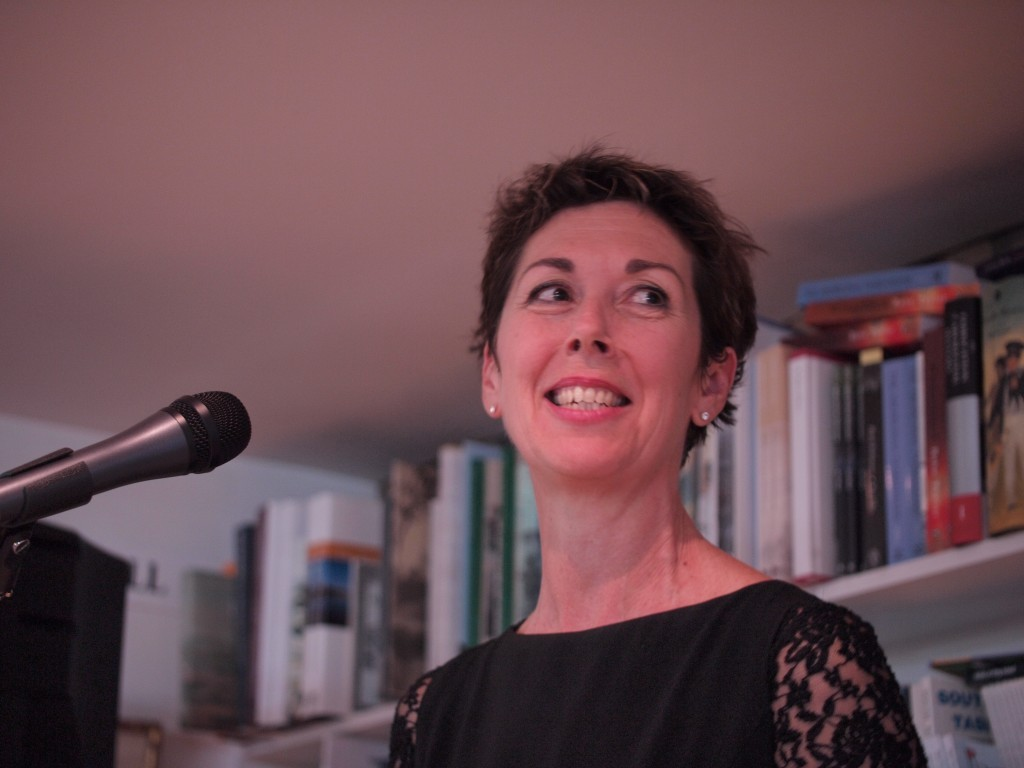 Merridy speaking at the Hobart Bookshop, 2011 Salamanca Place, Hobart.